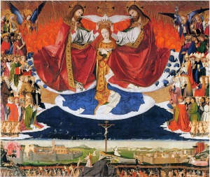 Coronation of the Virgin, by Enguerrand Quarton, 1454