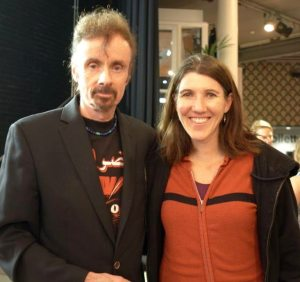 Author Kristin Anderson with author TC Boyle. The Hague, September 2015. Photo courtesy Eleonore from Canada.