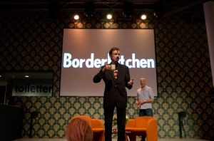 TC Boyle at Border Kitchen event. September 3, 2015. Photo courtesy Eleonore from Canada.