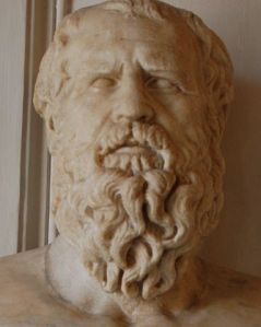 Somber philosopher Heraclitus from Ancient Greece